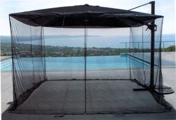 Moustiquaire pour parasol carré 3m x 3m